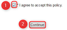 I agree to accept this policy
